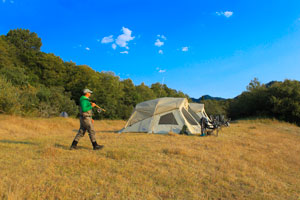 Spey Camp on Lower Klamath River